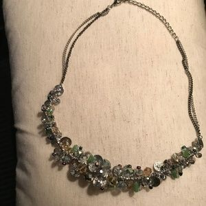Vera Wang Mixed Metal Beaded Statement Necklace